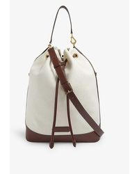 Tom Ford Brand-embossed Cotton-canvas Bucket Bag - Natural