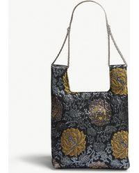 Hayward - Metallic Blue Floral Silk Jacquard Mini Tote Bag - Lyst