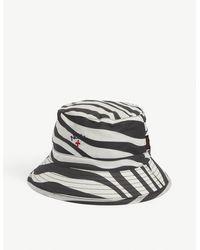 Barbour X Noah Patterned Waxed Cotton Bucket Hat - Multicolour