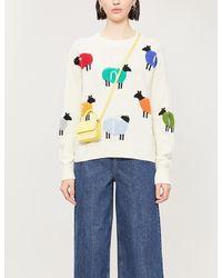 Benetton Graphic-print Wool-blend Jumper - Multicolour