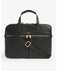 Knomo Hanover Leather Briefcase - Black
