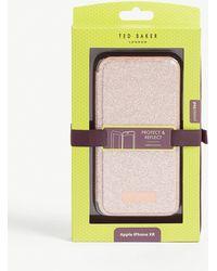 Ted Baker Glistey Glitter Iphone Xr Folding Case - Pink