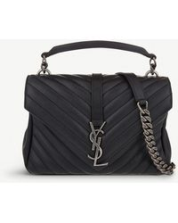 Saint Laurent - Monogram College Small Quilted Leather Shoulder Bag - Lyst