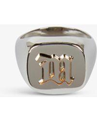 MISBHV Embossed Sterling Silver-plated Signet Ring - Metallic