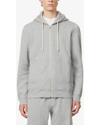 Orlebar Brown Mathers Brushed Cotton-jersey Hoody - Grey