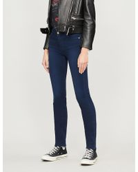7 For All Mankind - Rozie Slim High-rise Jeans - Lyst