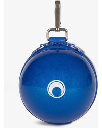 Marine Serre Moon-print Micro Ball Pvc Shoulder Bag - Blue