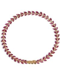 Annoushka - Ruby Vine 18ct Gold And Ruby Bracelet - Lyst