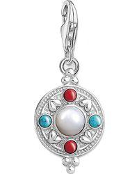 Thomas Sabo - Charm Club Lotus Coin Silver Charm Pendant - Lyst