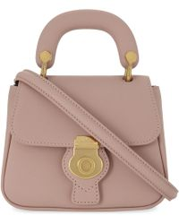 Burberry Dk88 Trench Leather Mini Cross-body Bag - Pink