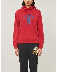 A Bathing Ape University Cotton-jersey Hoody - Red