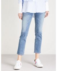 AG Jeans - The Isabelle High-rise Straight Cropped Jeans - Lyst