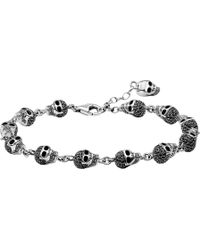Thomas Sabo - Rebel At Heart Zirconia And Sterling Silver Bracelet - Lyst