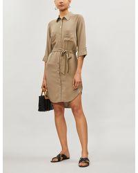 Heidi Klein Venice Belted Drill Shirt Dress - Natural