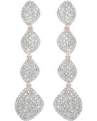 Monica Vinader Nura Teardrop 18ct Rose-gold Vermeil And Diamond Earrings - Metallic