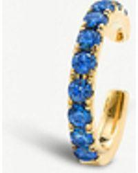 The Alkemistry - Robinson Pelham 14ct Yellow Gold And Sapphire Medium Earcuff - Lyst