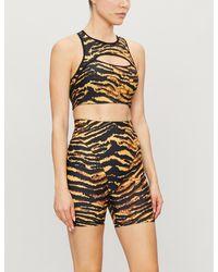 Adam Selman Sport - French Cut Tiger-print Stretch-jersey Shorts - Lyst