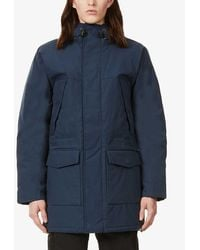 Carhartt WIP Trent Hooded Quilted Woven Parka Coat - Blue