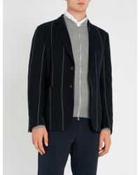 Corneliani - Striped Regular-fit Wool Jacket - Lyst