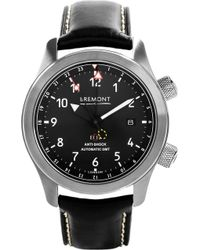 Bremont Mb111/bz Martin Baker Stainless Steel Adn Leather Watch - Black
