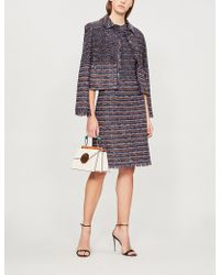 St. John - Striped Tweed Dress - Lyst