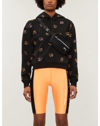 McQ Swallow-embroidered Cotton-jersey Hoody - Black