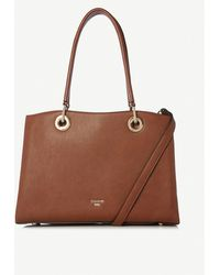 Dune Darys Large Faux-leather Tote Bag - Brown