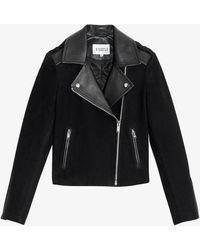 Claudie Pierlot Carma Leather Biker Jacket - Black