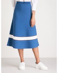 Sandro | A-line Contrast Knit Skirt | Lyst