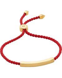 Monica Vinader - Linear 18 Carat Gold Plated Vermeil Friendship Bracelet - Lyst