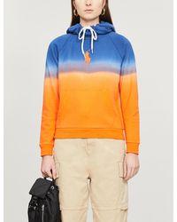 Polo Ralph Lauren Dip-dye Logo-embroidered Cotton-jersey Hoody - Orange