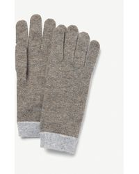 The White Company Knitted Cashmere Gloves - Gray