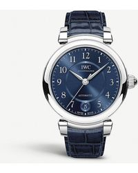 Iwc Iw458312 Da Vinci Automatic 36 Stainless Steel And Leather Watch - Blue