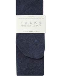 Falke Women's 6499 Navy Blue Mel Sensitive London Socks