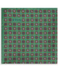 Eton of Sweden - Geometric Print Silk Pocket Square - Lyst