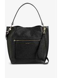 Ted Baker Cafrin Leather Hobo Bag - Black
