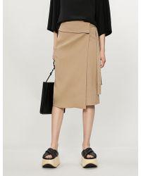 JOSEPH Finch Fitted High-rise Linen-blend Skirt - Natural