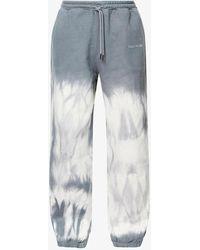 Daily Paper Len Tie-dye Straight Cotton-jersey jogging Bottoms - Grey