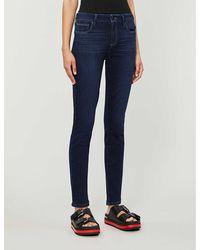 PAIGE Verdugo Ultra-skinny High-rise Jeans - Blue
