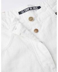 Jacquemus Le Jeans De Nîmes Wide-leg High-rise Jeans - White