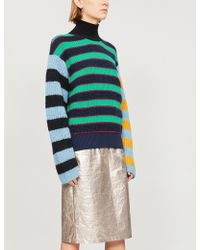 KENZO - Striped Knitted Jumper - Lyst