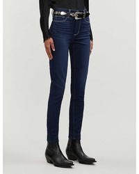 PAIGE Hoxton Skinny High-rise Jeans - Blue