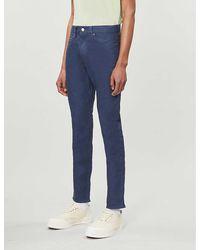 Ted Baker Tapered Stretch-denim Jeans - Blue