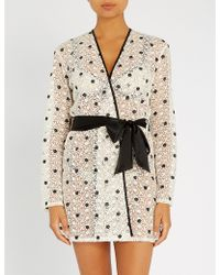 Myla - Bloomsbury Way Tulle And Embroidery Lace Robe - Lyst