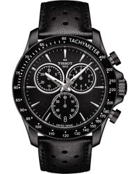 Tissot - T106.417.36.051.00 V8 Stainless Steel And Leather Chronograph Watch - Lyst