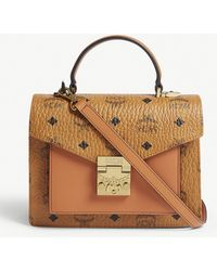 MCM - Patricia Classic Visetos Coated Canvas Satchel - Lyst
