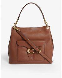 COACH Tabby Leather Hobo Bag - Brown