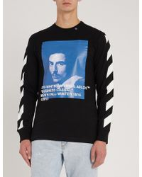 fca2a660 Off-White C/O Virgil Abloh Printed Cotton-jersey T-shirt in Black ...