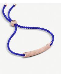 Monica Vinader Havana 18ct Rose Gold-plated Vermeil Silver Mini Friendship Bracelet - Blue