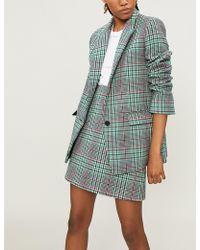 Sandro - Tartan Check Wool-blend Jacket - Lyst